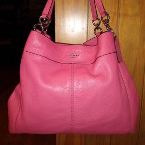 LIKE NEW Coach Pink Leather Lexy Purse Bag F57545
